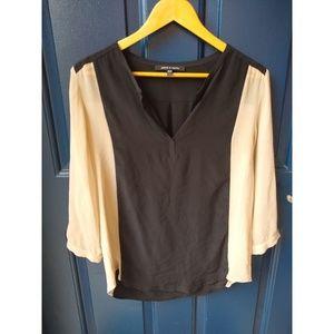 Judith & Charles | silk 3/4 sleeve blouse